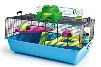 Savic Hamster Heaven Navy Blue Hamster Cage, 80 x 50 x 50 cm from Savic
