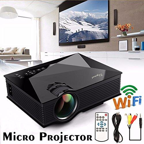 ELEGIANT UC46 1080P HD Wi-Fi無線接続 ミニポータブルホームプロジェクター1080P HDプロジェクターWiFi接続機能搭載 ミニ 家庭用 1080P】物理解像度800*480