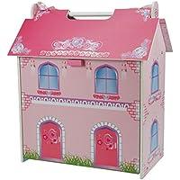 Un B Gee tx1092pequeña casa de muñecas de madera con muebles