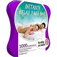 LA VIDA ES BELLA - Caja Regalo - INSTANTE RELAX PARA DOS - 1000 planes de bienestar como masajes, manicuras, circuitos de aguas y mucho más