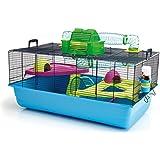 Savic Hamster Heaven Metro Hamsterkäfig, 80 x 50 x 50 cm, marineblau