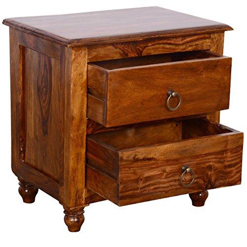 Altavista Kimon Bed Side Table (Teak Finish)