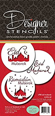 Eid Mubarak Cookie Stencil Set C980 by Designer Stencils