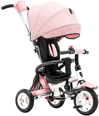 Portable    s Trike 3 Wheeler  s Tricycle Ride-on Bike avec Parent Guidon Pneu Amortisseur (Couleur : Pink) | De Nouvelles Variétés Sont Introduites L'une Après L'autre  49eded