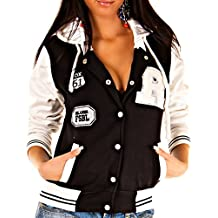 Amazon.es: chaquetas universitarias mujer - Negro