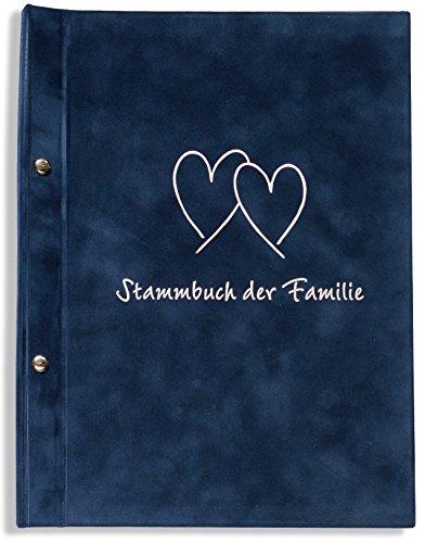 A4 Stammbuch Stammbuch der Familie Carwo blau Hochzeit Standesamt incl. 11 Hüllen