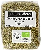 JustIngredients Essential Bio-Fenchelsamen, Organic Fennel Seeds, 5er Pack (5 x 100 g)