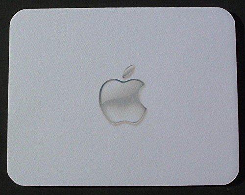 Clear Apple Print Themed alfombrilla de ratón-un gran Rectangular alfombrilla para ratón/alfombrilla de ratón para cualquier Mac iMac Macbook o iPad propietario o usuario estriar y funcional mousepad-el perfecto regalo día del padre o regalo de cumpleaños