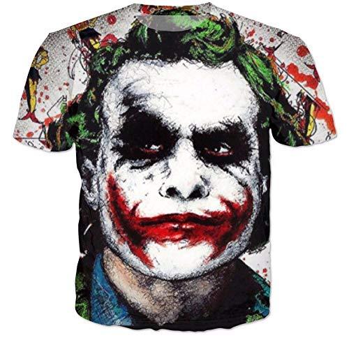 Lustige Batman Der Joker DC Comics Superheld Druck 3D T-Shirt Frauen Männer Sommer Stil t-Shirt Harley Quinn Carnage tees (Batman Und Der Joker)