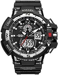 analogique montre numérique militaire montre de sport pour homme Double Cadran Business Casual multifonction électronique poignet montres résistant Montre-bracelet