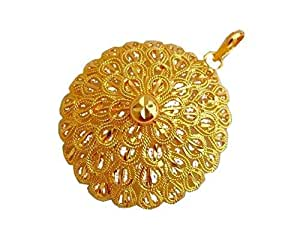 4f24eec46a ... BFC- Traditional Ethnic One Gram Gold Plated Flower Designer Pendant  for woman and