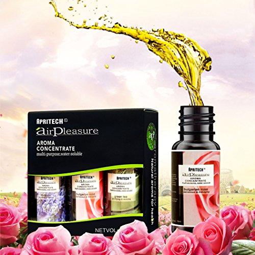 APRITECH® Aceites Esenciales  Aceites de Aromaterapia 100% Puro  3x15 ml (Lavanda  Árbol de Té  Hierba de Limón  Rosa búlgara )   is not Aditivos para el baño Aceites (Lavender+bulgarian rose+ green tea)