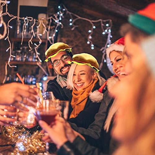 zaote Halloween Kostüm Headwear Hüte Einstellbare Cheeseburger Hut Weihnachten Kostüm Party Dress Up Requisiten Hut für Kinder Erwachsene skilful