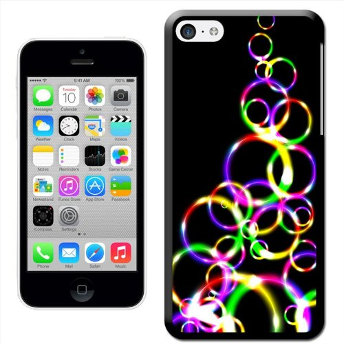 Fancy A Snuggle 'Bunte Kreise' Hard Case Clip On Back Cover für Apple iPhone 5C Multi Colour Bubble Hoops