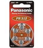 Panasonic Zink-Luft Hörgeräte-Zellen Knopfzelle (1,4V, 180mAh) 6 Stück