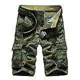 Highdas Camouflage Cargo Shorts für Herren Sommer Casual Shorts Multi Taschen Outdoor-Hosen Armee-Art-Arbeit Casual Short 2 Color 10 Size