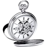 Royal London Men's Stainless Steel Mechanical Pocket Watch 90048-01