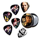 Neil Young Set of 6 Loose Guitar Médiators in Tin ( Collection C )