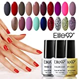 Elite99 Kit de 22 Vernis Gel Semi-Permanent Vernis à Ongles UV LED Soak Off 22*7ml(20 couleurs +...