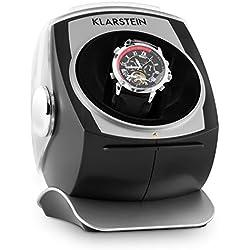 Klarstein Senna Automatikuhr Uhrenbeweger design Uhrenkasten (leise, für 1 Uhr, Samtkissen, 4 Betriebsmodi)