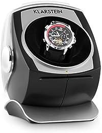 Klarstein Senna caja para relojes (compacto, motor silencioso, amplia tapa transparente, 4 programas de rotación, almohadilla de terciopelo) - negro