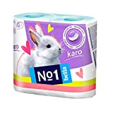 #10: Bella No1 Karo Blue Toilet Tissue Roll - 4 Rolls