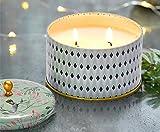 Gift Candle Plumeria 55 Hrs Bougies Parfumées Bougie Naturelle en Cire de Soja