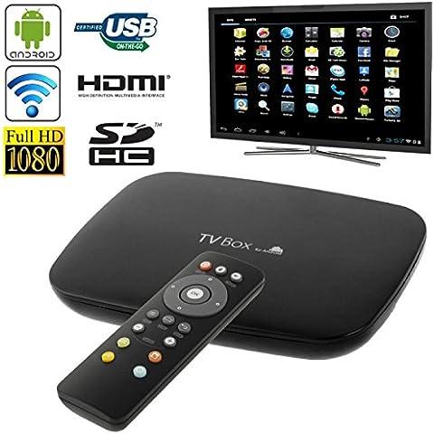 Full HD 3D 1080P Quad Core Android 4,2, TV Box Media Player HDMI 1,4 conector RJ45