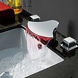 KAIRRY Alle Kupfer Wärme Led Wasserfall Badewanne Keramik Waschbecken Waschen Sie Basin-Wash Waschbecken Wasserhähne Im Bad