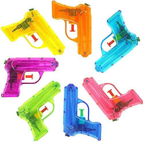German Trendseller® - 6 x Wasserpistolen Transparent ┃ NEU ┃ Mitgebsel ┃ Kindergeburtstag ┃ Kinder Pool Party ┃ 6 Stück -