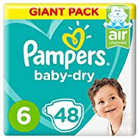 Pampers Baby-Dry, Size 6, Extra Large, 13+ kg, Giant Pack, 48 Diapers