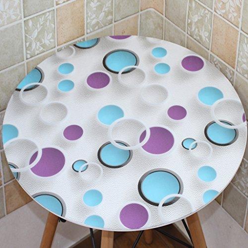 BSNOWF- Nappes Nappe ronde en plastique Imperméable à l'huile Tapis de table en PVC facile à nettoyer (couleur: rond / 1,0 mm) ( taille : Diameter-125cm )