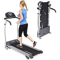 Preisvergleich für Kinetic Sports Laufband 1100 Watt 12 Trainingsprogramme für Geh- u. Lauftraining, integrierte Lautsprecher, stufenlos einstellbar bis 12 km/h klappbar