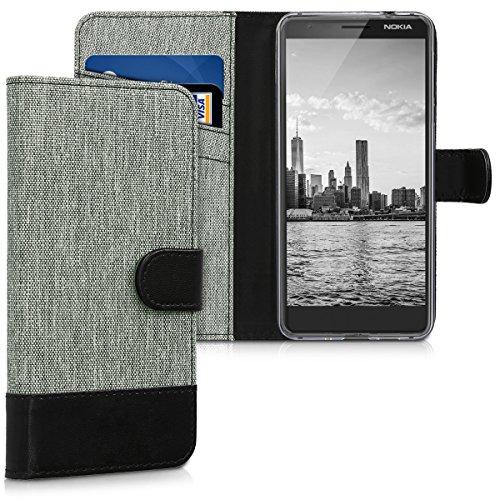 kwmobile Nokia 3.1 (2018) Hülle - Kunstleder Wallet Case für Nokia 3.1 (2018) mit Kartenfächern und Stand