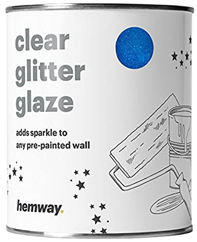 Hemway 1L Clear Glitter Paint Glaze (Sapphire Blue) for Pre-Painted