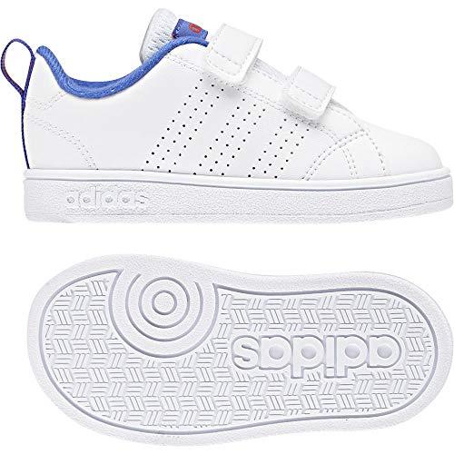 adidas Vs Advantage Clean Cmf, Scarpe da Ginnastica Basse Unisex-Bimbi, Bianco Ftwwht/Hirblu 000, 22 EU