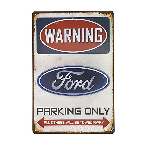 "66Retro Blechschild ""Ford Parking Only"", Vintage-Design, Deko-Artikel zur Wandmontage, 20 cm x 30 cm"