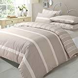 AdamLinens Luxury Duvet Quilt Cover + PillowCases Natural Eve design Double Size