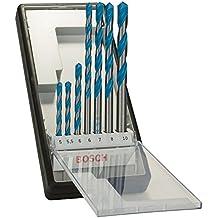 Bosch 2607010543 - Pack de 7 brocas multiusos, diámetro 4/5/6/6/8/10/12 mm, color gris y azul