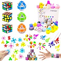 Party Favor Pinata Toy For Kids, Party Assortment Bundle, Mini Magic Cube, Mochi Squishies, Slap Bracelets For Birthday Party,Classroom Rewards,Carnival Prizes, Goodie Bag Fillers