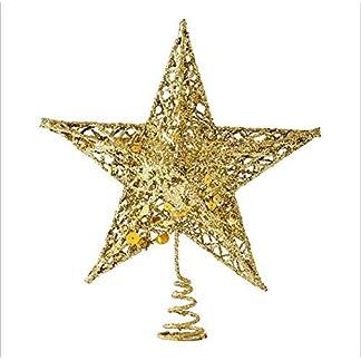 Sricam-Christbaumspitze-198-cm-Draht-Gold-Star-fr-Weihnachtsbaum-Dekoration-Wohlttigkeitszwecke