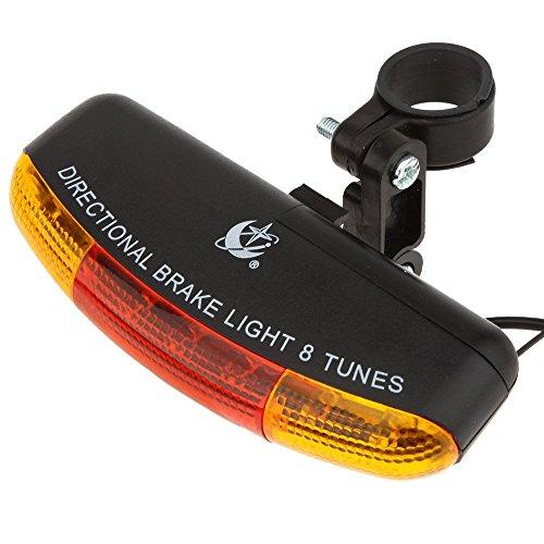 XC Vielseitige Mountain Bike Blinker + Fahrrad Ruecklicht + Horn + Bremslichter Multifunktions-Elektronische Klingel