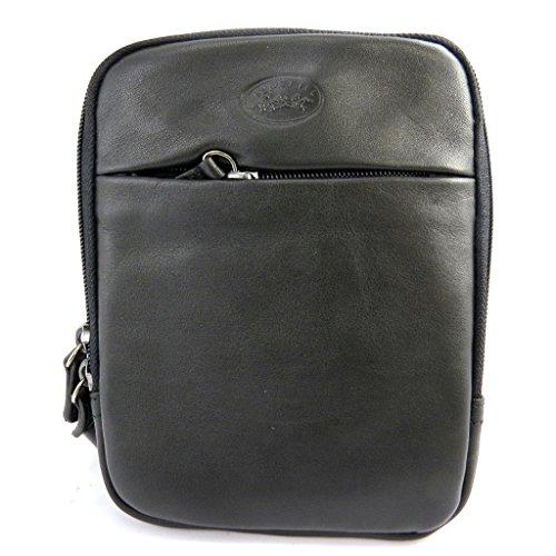 Bolsa de hombre de cuero 'Lafayette'negro (14x19x2 cm).