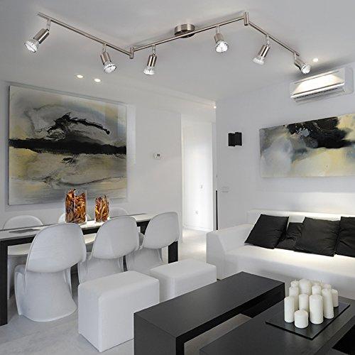 LUMINATO / LED-Strahlerschiene / 150cm / 6 x LED verstellbar / Alu-matt