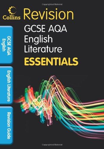 Collins GCSE Essentials: AQA English Literature: Revision Guide Cover Image