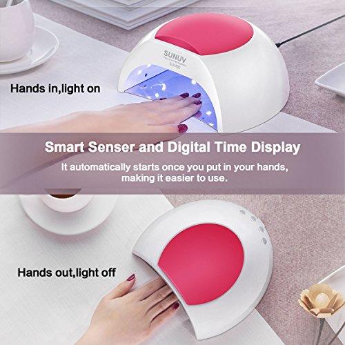 SUNUV SUN2C 48W UV LED Licht-Lampe Gelnägel-Trockner mit Zeitmesser, Sensor für Trocknung von Gelnägel und Zehennägel - 6