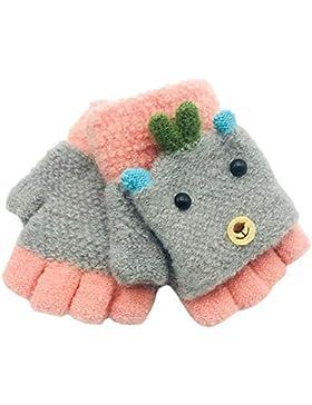 Fingerhandschuh URSING Herbst und Winter Kleinkind Baby Warme Handschuhe Fünf Finger Fäustlinge verdicken Patchwork...