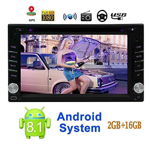 EINCAR Android 8.1-System Doppel-DIN-6.2 Zoll kapazitive Touch-Screen-Auto-DVD-CD-Player im Dash GPS Navigation Bluetooth Head Unit Unterst¨¹Tzung WiFi / 4G / Mirrorlink/USB/SD/FM/AM/RDS