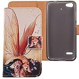 Lankashi PU Flip Leder Tasche Hülle Case Cover Schutz Handy Etui Skin Für Medion Life E5006 MD 60227 5