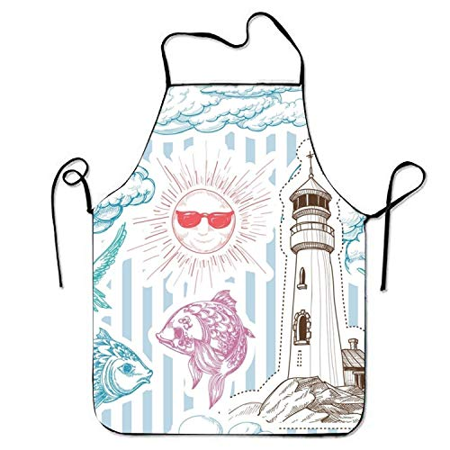 HTETRERW Cupcake Card Sign Apron for Baking Crafting Gardening Cooking Durable Easy Cleaning Creative Bib for Man and Woman Standar Size (Cupcake Hund Kostüme)